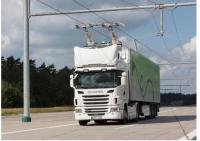 공공 도로에서 최초로 운행할 예정인 집전 장치(current collector)를 갖춘 트럭