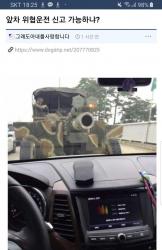 대포차 위협운전 수준