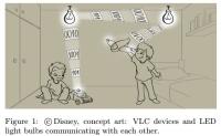 가시광을 인터넷 및 상호 간의 통신을 위한 매체로 사용하는 발광다이오드(LED)