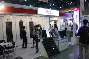 [2017 세계태양에너지엑스포] (주)솔라플렉스,플렉서블 CIGS 태양전지를 이용한 모듈 선보여
