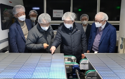 [포토] 태양광 모듈 제조공정 현장, 올해부터 본격 가동