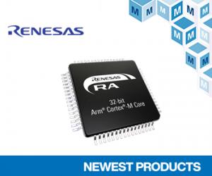 마우저 일렉트로닉스, 터치 인터페이스를 갖춘 르네사스 RA2L1 마이크로컨트롤러 공급